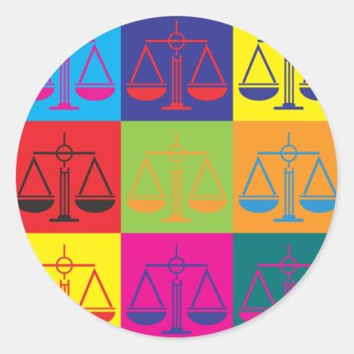 Law Pop Art Sticker