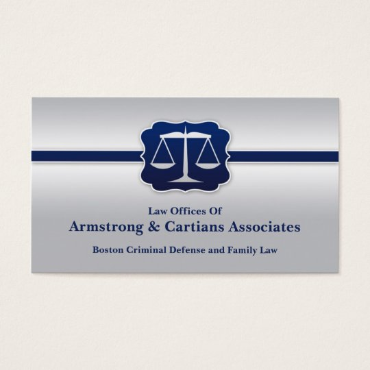 Law Scale Elegant Business Card
