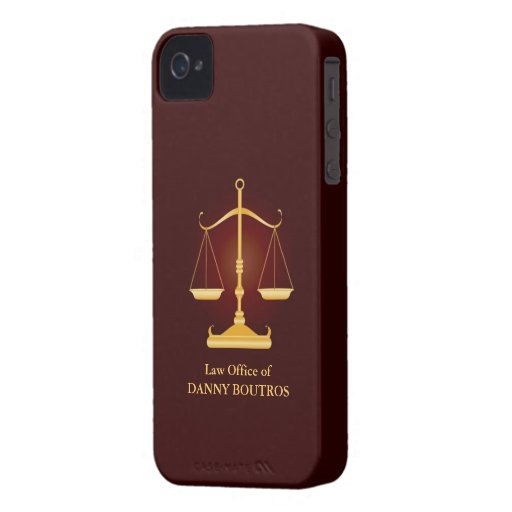 Law Scale iPhone 4 ID Case-Mate iPhone 4 Case