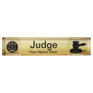 Law | Scale of Justice | Lawyer Nameplate