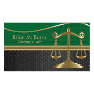 Law | Scales of Justice | Lawyer | Customizable Pack Of Standard Business Cards