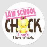 Law School Chick 1 Round Stickers