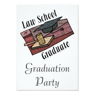 Law School Graduate 13 Cm X 18 Cm Invitation Card