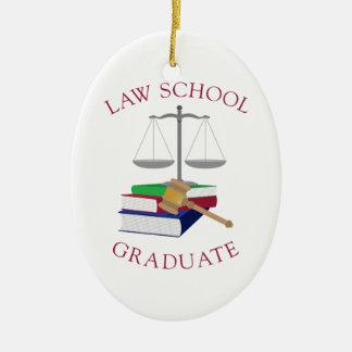 Law School Graduate Ceramic Oval Decoration