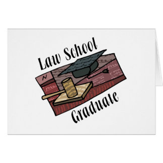 Law School Graduate Greeting Card