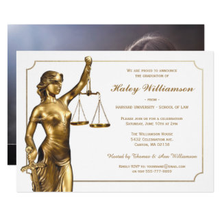 Law School Graduation Invitation