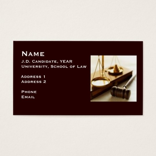 Law student business card 1 zazzle for Accounting student business card
