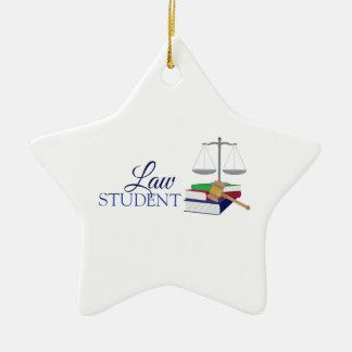 Law Student Ceramic Star Decoration