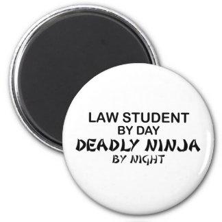 Law Student Deadly Ninja 6 Cm Round Magnet