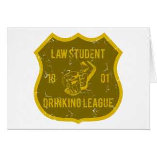 Law Student Drinking League Greeting Card