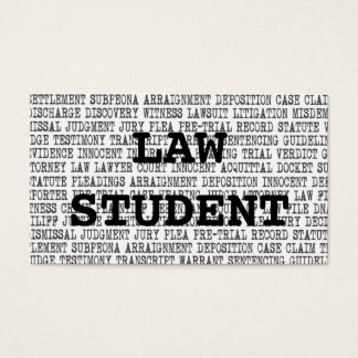 Law Student Legal Words Business Card