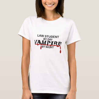 Law Student Vampire by Night T-Shirt