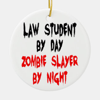 Law Student Zombie Joke Christmas Ornament