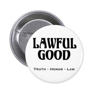 """Lawful Good"" 6 Cm Round Badge"