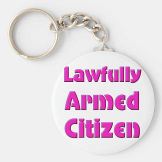 Lawfully Armed Citizen Basic Round Button Key Ring