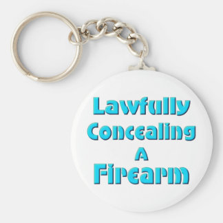 Lawfully Concealing a Firearm Basic Round Button Key Ring