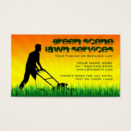 lawn AND snow services Business Card