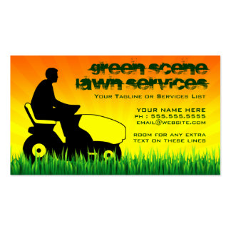 lawn AND snow services Business Card Templates