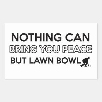 Lawn Bowl design Rectangular Sticker