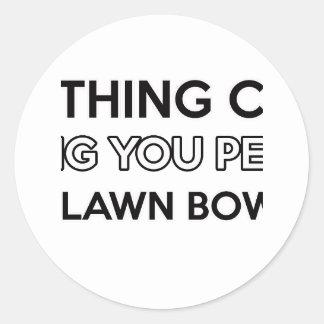 Lawn Bowl design Round Sticker