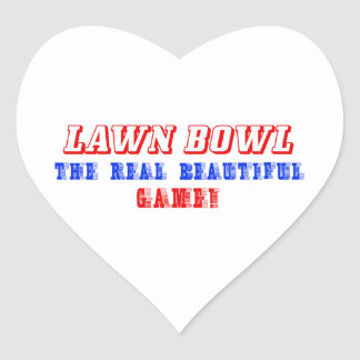 lawn bowl design heart sticker