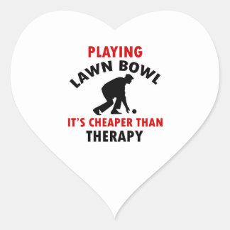 Lawn bowl design heart stickers