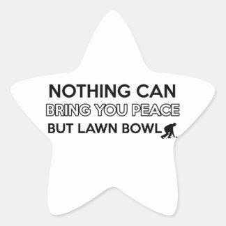 Lawn Bowl design Star Sticker