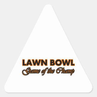lawn bowl design triangle stickers