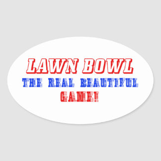 lawn bowl design oval sticker