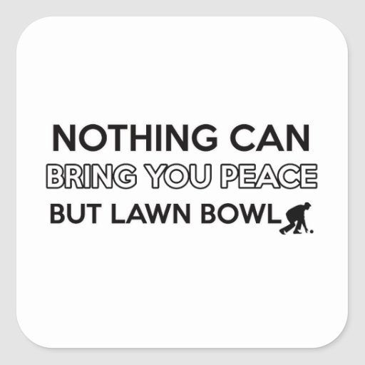 Lawn Bowl design Stickers