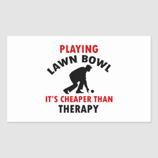 Lawn bowl design rectangular stickers
