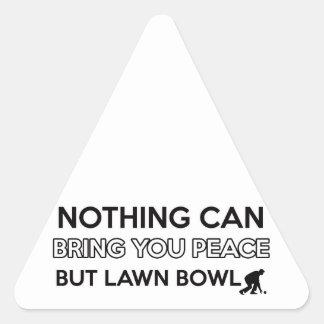 Lawn Bowl design Triangle Sticker