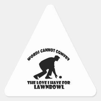 Lawn Bowl DESIGNS Triangle Sticker