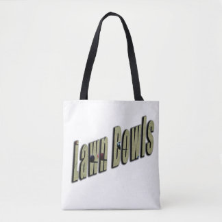 Lawn Bowl Dimensional Logo, Tote Bag