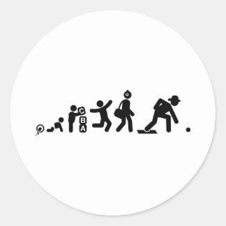 Lawn Bowl Round Sticker