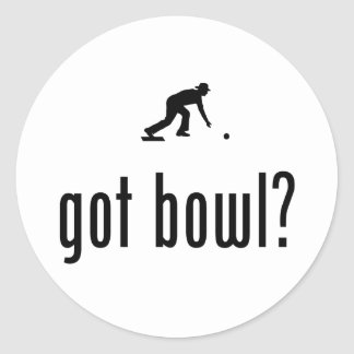 Lawn Bowl Round Stickers