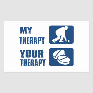 Lawn bowl therapy designs rectangular sticker