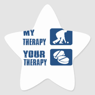 Lawn bowl therapy designs star sticker