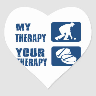 Lawn bowl therapy designs heart sticker