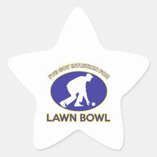 Lawn bowling design star sticker