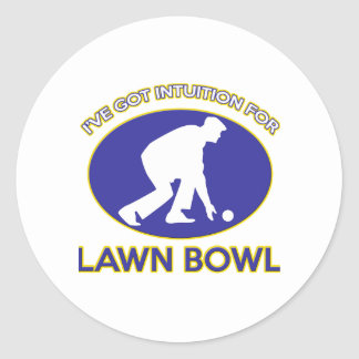 Lawn bowling design stickers