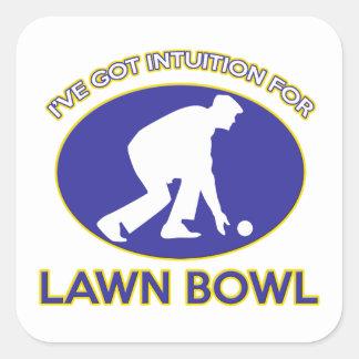 Lawn bowling design square sticker