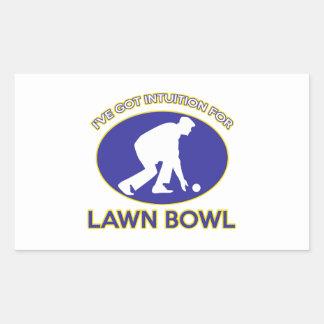 Lawn bowling design rectangular sticker