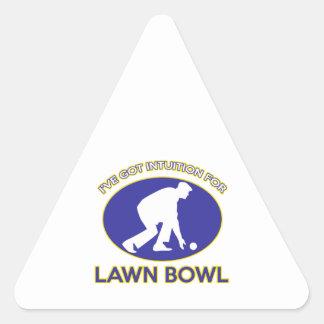 Lawn bowling design triangle sticker