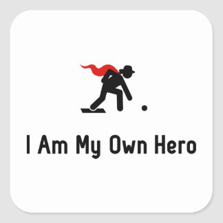 Lawn Bowling Hero Square Sticker