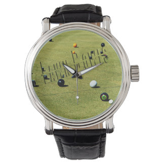 Lawn_Bowls_Action_Logo_Mens_Leather_Watch Watch