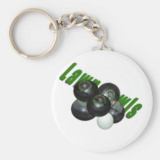 Lawn Bowls And Logo, Key Chain. Key Ring