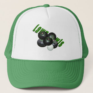 Lawn Bowls And Logo, Trucker Hat