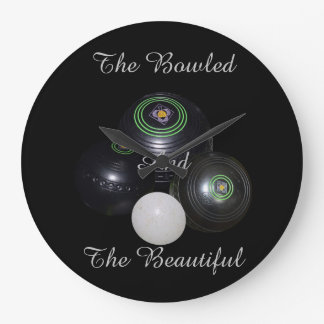 Lawn Bowls Bowled Beautiful Large Wall Clock. Large Clock