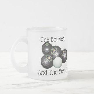 Lawn Bowls Bowled Beautiful Logo, Frosted Glass Coffee Mug